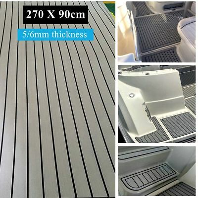 35''X106'' Boat Decking EVA Foam Marine Flooring Faux Yacht Teak Carpet Sheet !