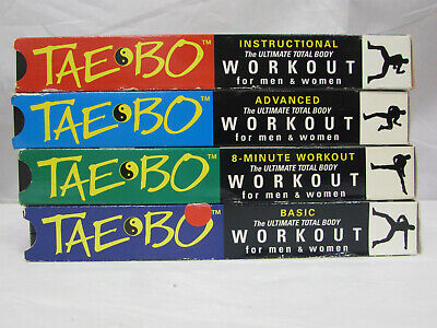 TAE BO WORKOUT VHS Tape Lot of 4 Billy Blanks Exercise 8