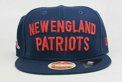 644caa254b1 New England Patriots Navy Blue Red White Patch NFL New Era 9Fifty Snapback  Hat