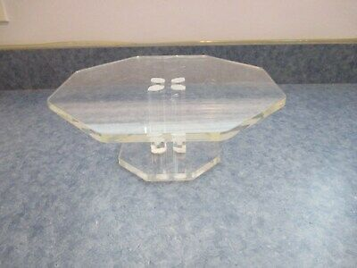 Vintage Lucite Cake Stand Server Octagon Shape Cool Hard To Find