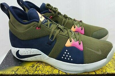 Nike PG 2 ACG Olive Paul George Basketball Shoes AJ2039-300 Men's Size 13.5
