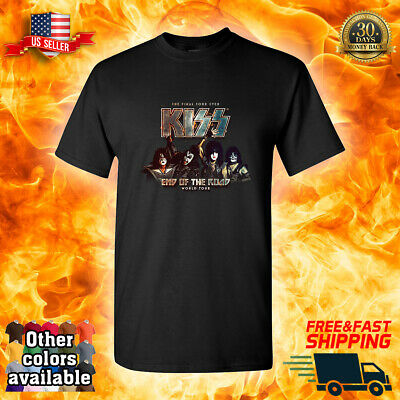 NEW 2019 KISS End Of The Road World Tour Concert 2 Side T-Shirt Size Men Black