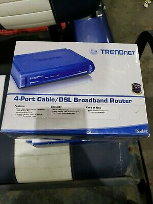 tw100s4w1ca Trendnet Tw100-s4w1ca Rtr Dsl//cable Router Firewall Nat 4port