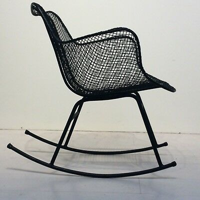 Excellent Mid Century Modern Sculptura Wire Mesh Rocking Chair By Alphanode Cool Chair Designs And Ideas Alphanodeonline