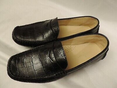 521d9946ba3 Cole Haan Loafer Womens SZ 7.5 B Black Leather Driving Shoe Flat Penny