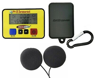 RACEceiver Element Rechargeable with Rubber Holster and Helmet Speaker