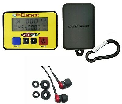 RACEceiver Element Rechargeable with Rubber Holster and Rookie Ear Piece Racing