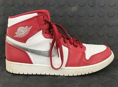 the best attitude 05a68 469f9 Nike Air Jordan 1 Retro Silver Medal Gym Red Silver White Size 11.5 332550- 602