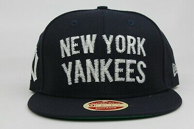 869ce924515 New York Yankees Navy White MLB Heritage Series New Era 9Fifty Snapback Hat  Cap