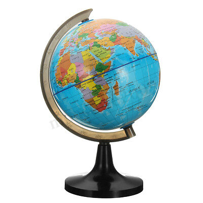 14cm Rotating Stand Vintage World Earth Globe Map School Geography Education  !