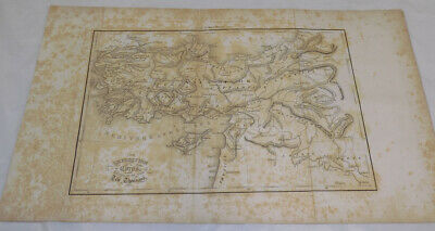 1808 Antique Map/EXPEDITION OF CYRUS INTO PERSIA, RETREAT OF THE TEN THOUSAND