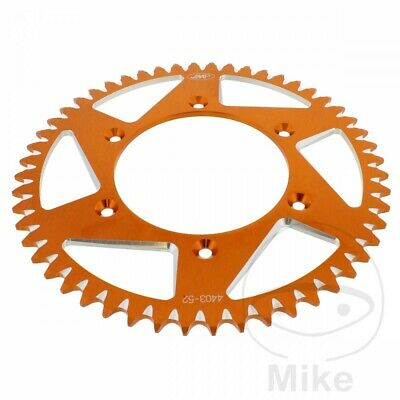 JMP Orange Aluminium Rear Sprocket (52 Teeth) KTM SX 520 Racing 2001