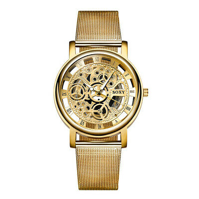 New Fashion Casual Quartz Analog Military stainless wrist watches Leather Men's