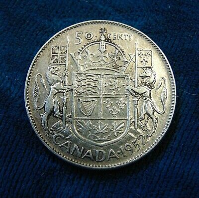 CANADA 1952 silver half dollar fifty 50 cent piece Canadian