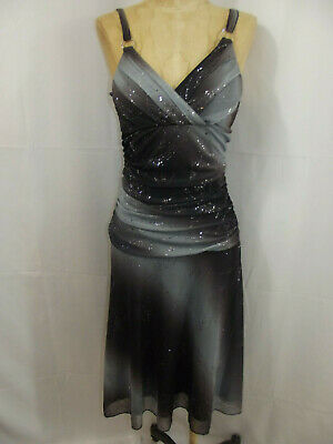 Vintage 80s Disco/Club Dress Slinky Iridescent Sparkle Polyester by Grace Small