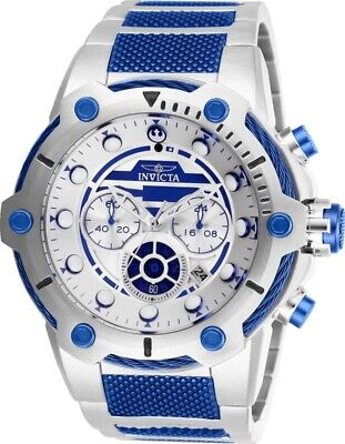 Invicta 27114 Star Wars Men's 51.5mm Chronograph Stainless Silver Dial Watch