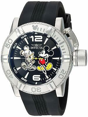 Invicta 23792 Disney Limited Edition Men's 50mm Automatic Steel Black Dial Watch