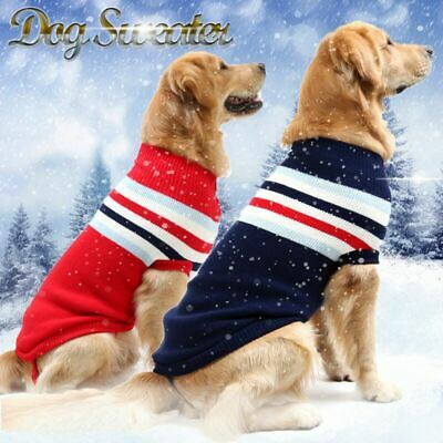 Warm Sweaters for Small Medium and Large Dogs Pet Outfits Winter Dog Clothes US