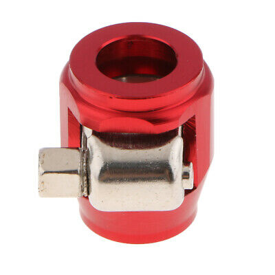 AN4 Aluminium Hex Clamp Finisher / Hose End for Braided Hose Red Durable