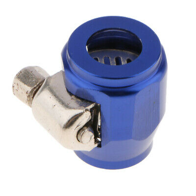 AN4 Aluminium Hex Clamp Finisher / Hose End for Braided Hose Blue Durable