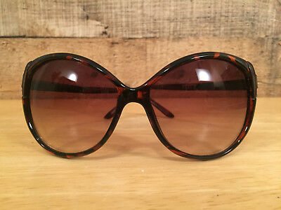 cab8ec54a5 Women s Fashion Sunglasses Brown Tortoise Shell Plastic Metal Frame Brown  Lenses