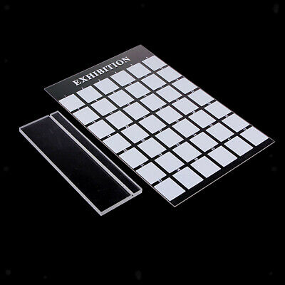 42 Grids Clear Acryclic Nail Holder False Nail Tips Practice Dispaly Stand