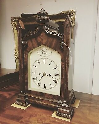 Fusee Bracket Clock. With Original Wall Bracket.