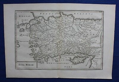 Original antique map ANATOLIA, TURKEY, CYPRUS, 'ASIA MINOR', Cellarius, 1799