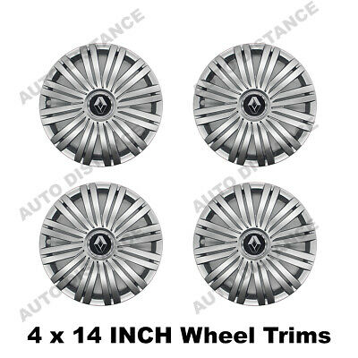 Renault Clio 14 Inch Wheel Trim Cover With Emblem Set Of 4 12/200