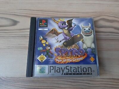 "Sony PlayStation 1 Spiel Spyro ""nur OVP + Anleitung"" ps Top Year of the dragon 3"