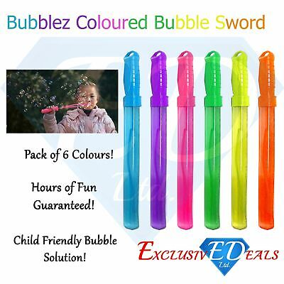 Large Bubble Swords 36cm Wands Outdoor Party Summer Toys - Choose Pack Size