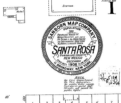 Santa Rosa, New Mexico~Sanborn Map©sheets on a CD with 4 maps made~1908, 1921
