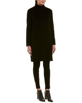 f760647abfe NWT  895 CINZIA Rocca Icons Black Wool Cashmere Stand Collar Coat ...