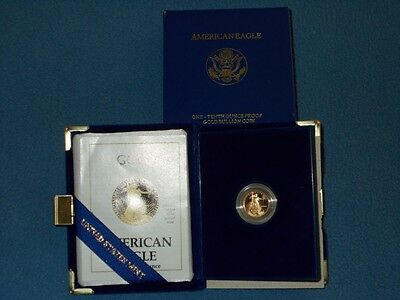 1989-P 1/10 oz Proof Gold American Eagle (w Box & COA)