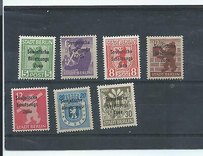 Germany Allied Occ. stamps. Soviet Zone - 7 of the Berlin overprints MH (E127)