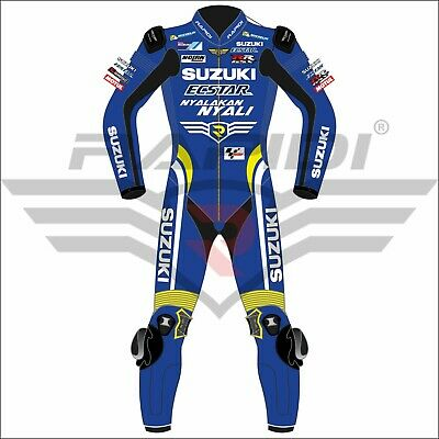 Suzuki Ecstar MotoGP Motorbike Leather Racing Suit  All Size Available