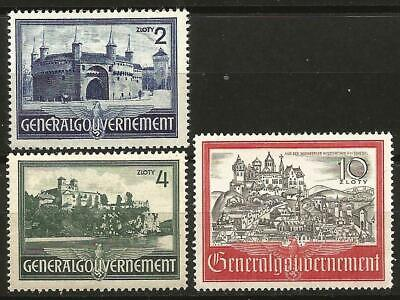 Germany Third Reich Occupation Poland Gen. Government 1941 MNH Buildings Cracow