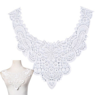 diy embroidered floral lace neckline neck collar trim clothes sewing applique XS