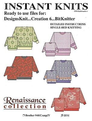 INSTANT KNITS DESIGN COLLECTIONS by Knitwares - for DAK, Creation 6, BitKnitter