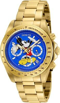 Invicta 25195 Disney Limited Edition Men's 39.5mm Chronograph Gold Blue Dial