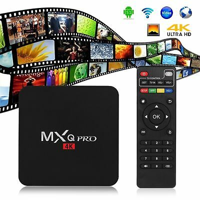 S905W MXQ Pro 4K 64-bit Android 7.1 DDR4 3D Smart TV HD Box 17.6 +Mini KEYBOARD