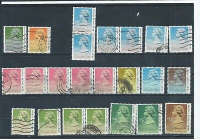 Hong Kong stamps. Some of the 1987 & 1988 QEII series used (D744)