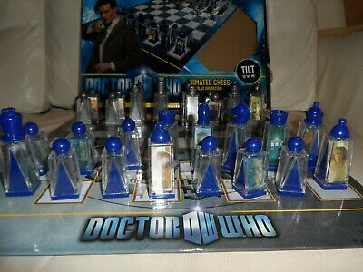 DOCTOR WHO Animated Lenticular CHESS SET 11th Doctor Matt Smith New Unopened