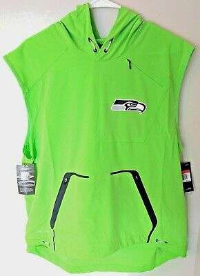 38167ee7dd36 Nike NFL Seattle Seahawks Alpha Fly Rush Dri-Fit Hooded Vest Mens Large -   150