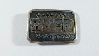 Vintage 1975 WTSO Wyoming Studio Art Works James Lind Belt Buckle