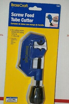 BrassCraft Screw Feed Tube Cutter 1/8 in. to 1-1/8 in. OD  NEW T402