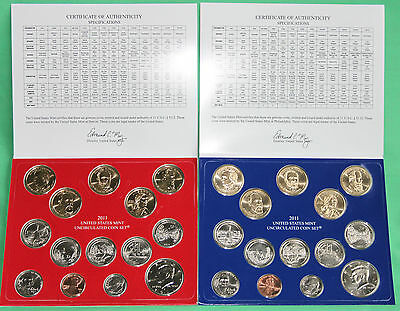 2011 US Mint Annual P and D Uncirculated Coin Set 28 Coins with COA