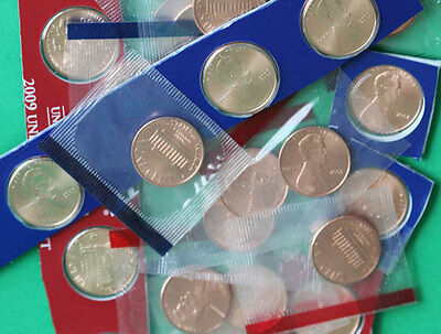 2000-2009 BU Lincoln One Cent Lot 26 P + D Coins From US Mint Sets Cello Wrapped