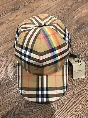 0f7f14a027b AUTHENTIC BURBERRY RAINBOW Vintage Check Baseball Cap - £84.00 ...