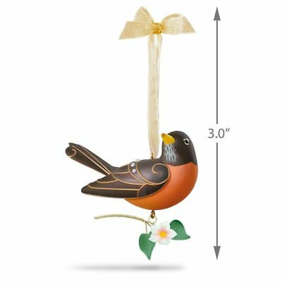 Hallmark 2018 Robin Beauty of Birds Series Christmas Ornament DB